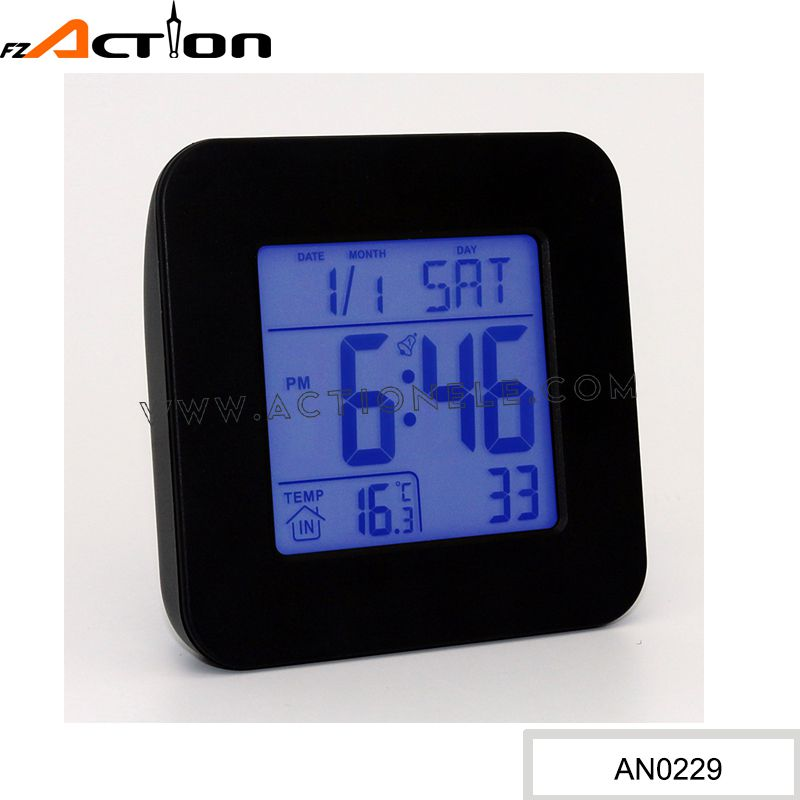 DCF Radio Controlled Clock Digital Alarm Clock For Promotion