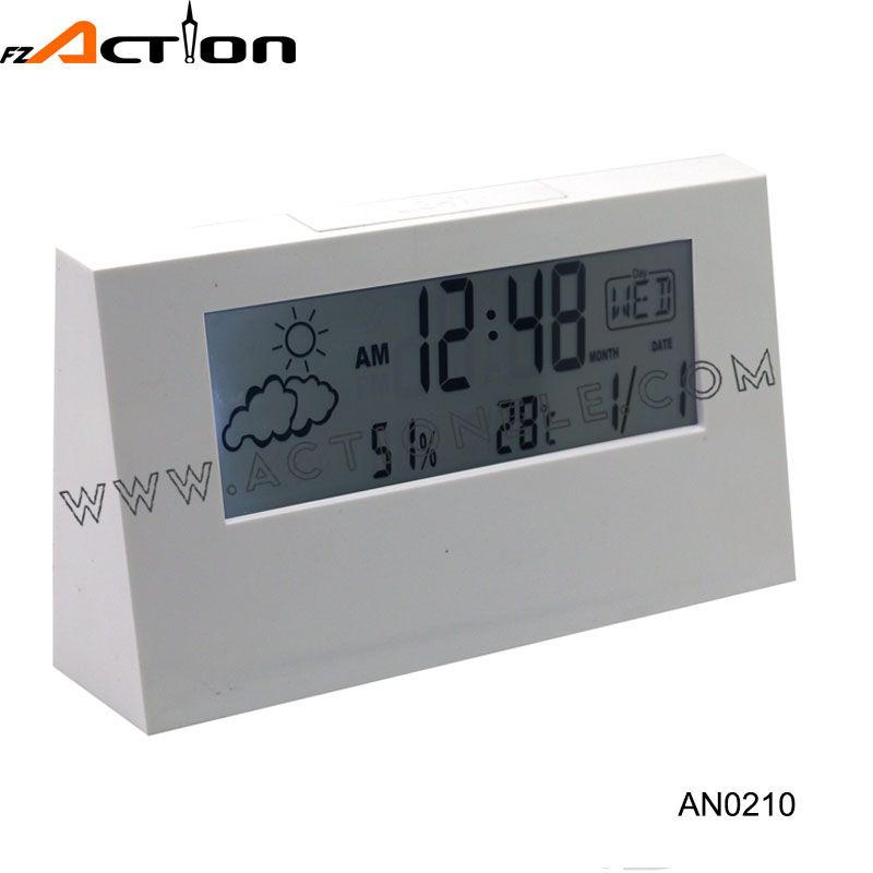 2016 New Design Weather Station Digital Table Alarm Clock for Promotion