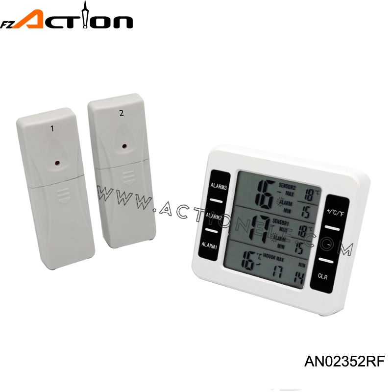Indoor and outdoor RF temperature Freezer thermometer