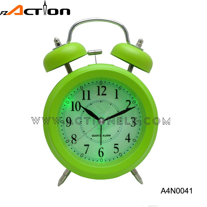 Cheap Analog Twin Bell Alarm Clock With LED Backlight