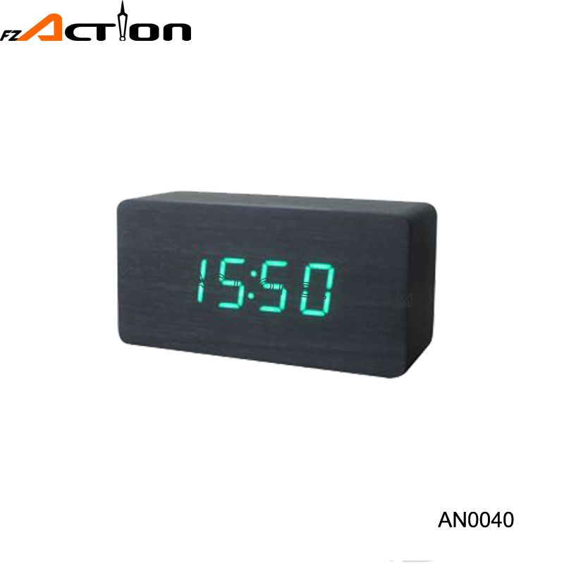 2016 Modern style digital led wood alarm table clock