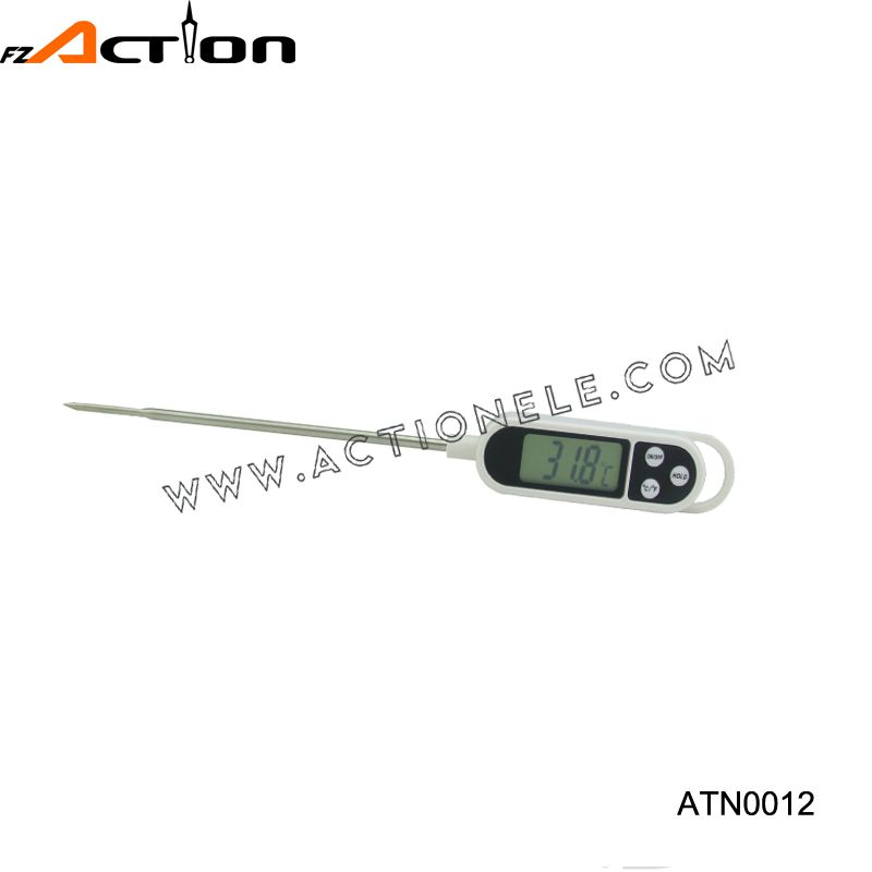 Digital instant read kitchen meat thermometer
