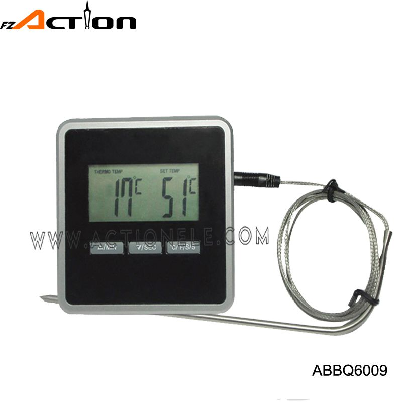 Alarm signaling BBQ digital themometer with C/F temperature
