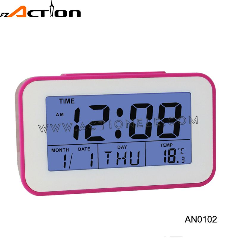Promotion table digital alarm clock with blue LED backlight & timer