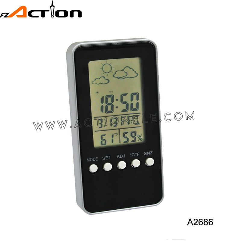 Hight quality digital weather station clock