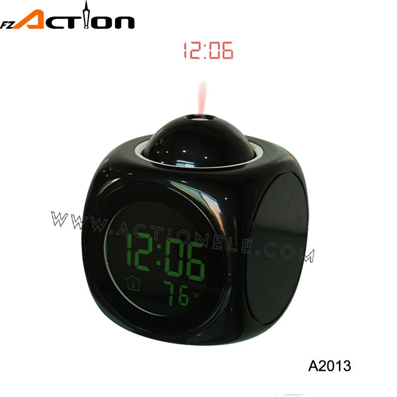 Projection and taking time digital table clock
