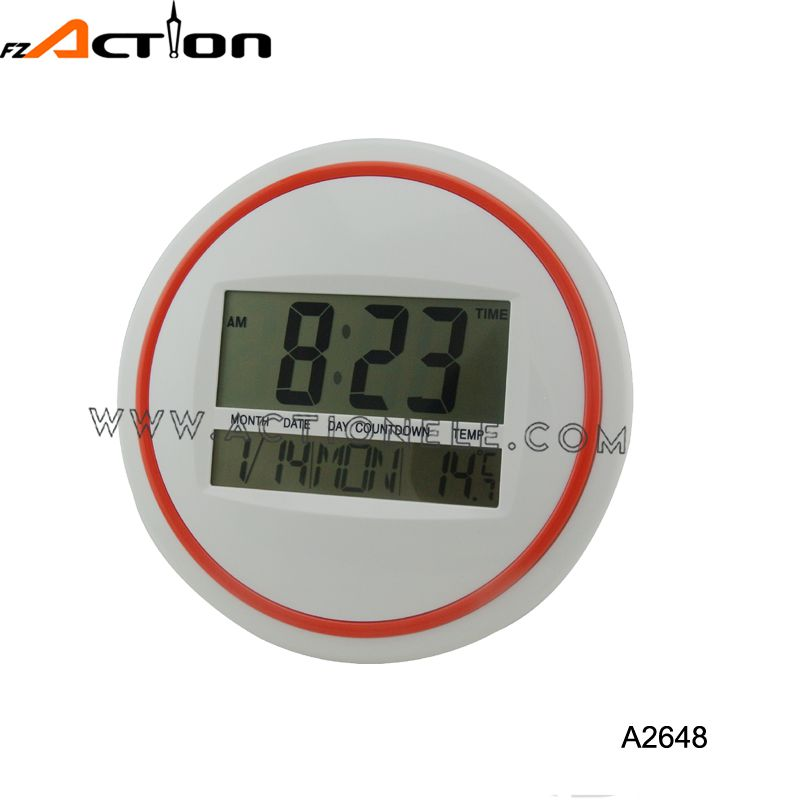 See larger image New product alarm digital wall clock with timer and temperature