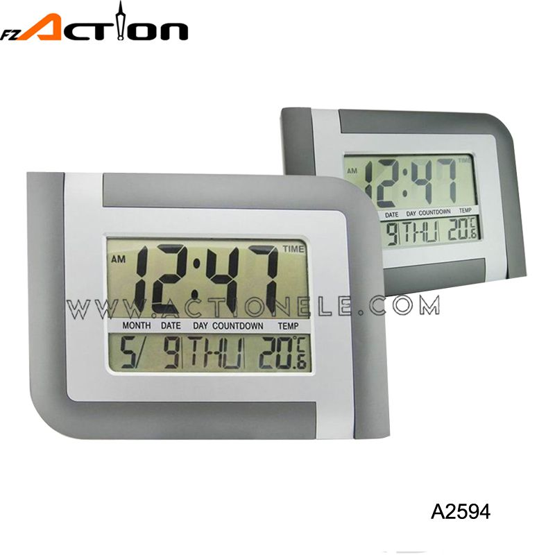 LCD Digital Alarm Table and Decorative Wall Mounted Clock