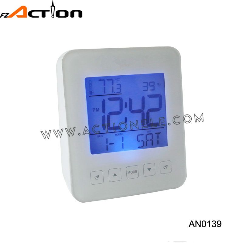 8 music alarm DCF-77 Radio controlled clock with temperature record