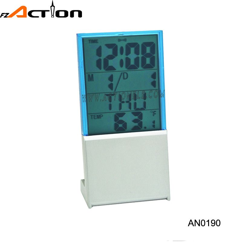 Digital alarm clock with temperature for promotion