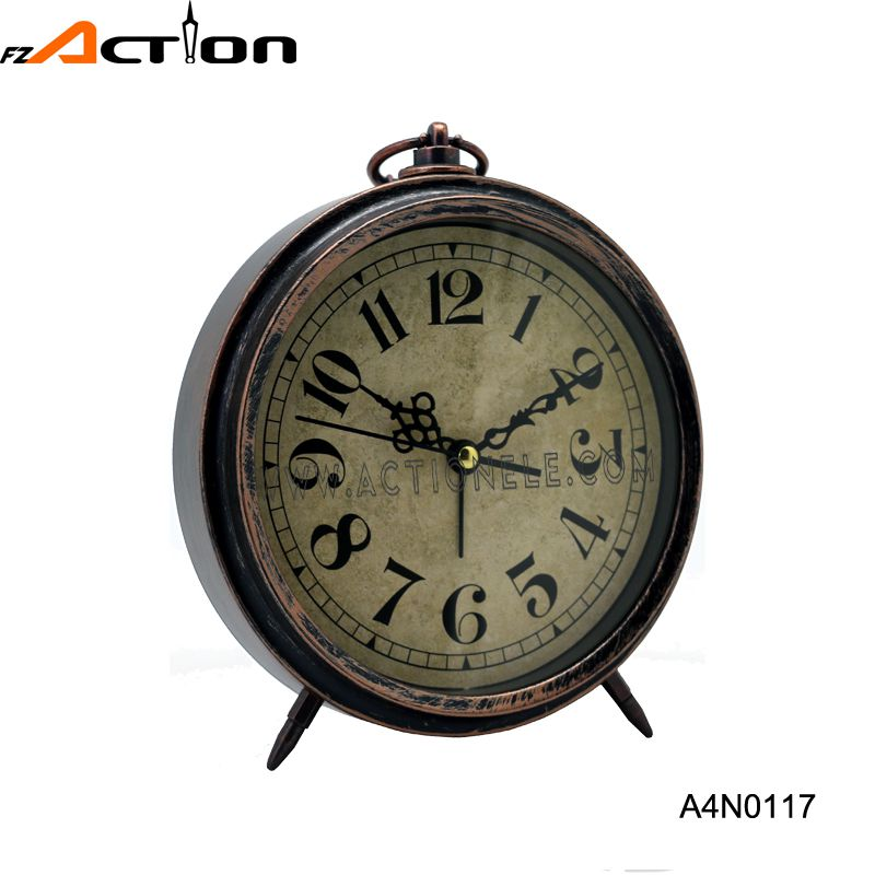 Cheap Price Plastic Analog Table Clock with Beep Alarm