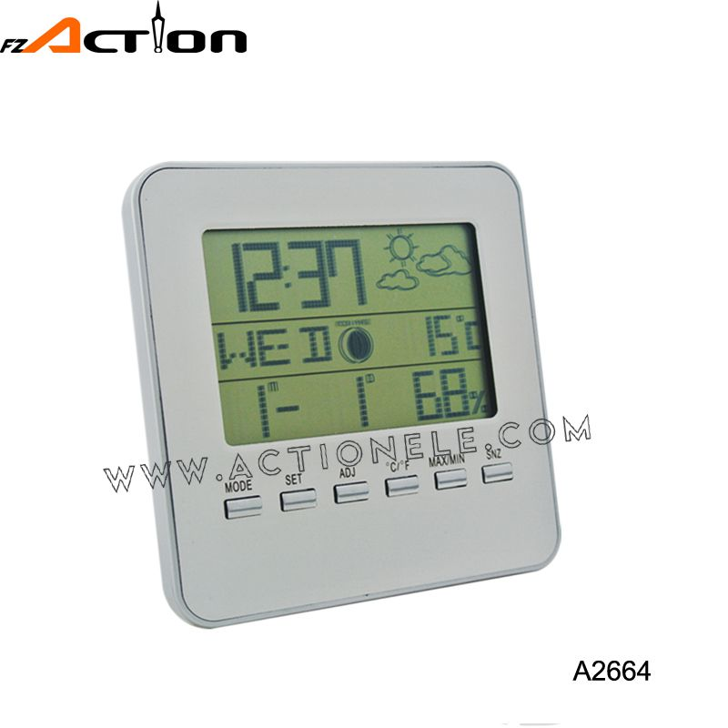 Weather Station Digital Table Clock with LED Backlight