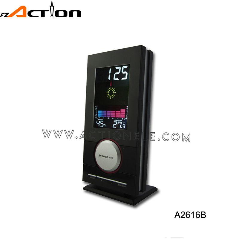Manufacturer Top10 Best Selling Premium Quality Colorful Weather Station Alarm Clock