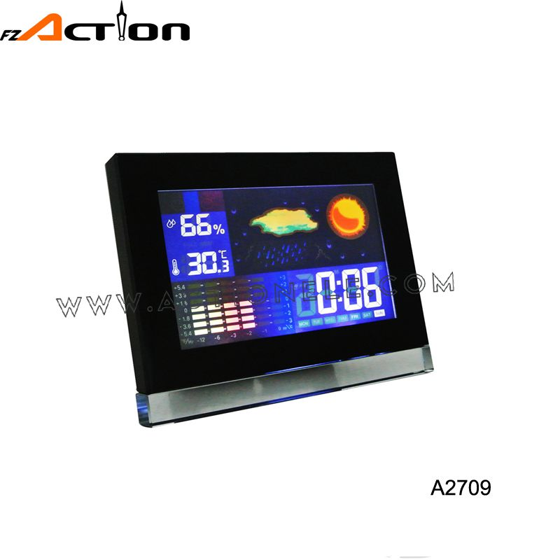 Weather Station Digital Alarm Clock With Thermometer and Humidity