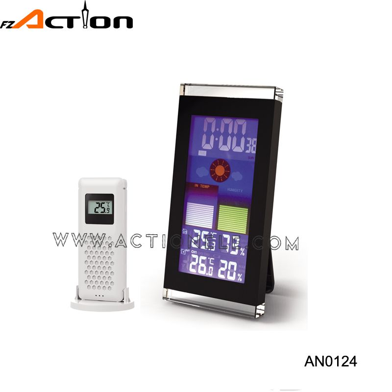 Wireless color weather station digital table clock