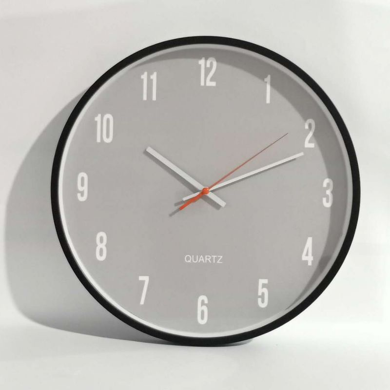 ABS Temperature Humidity Calendar Wall Clock for Living Room